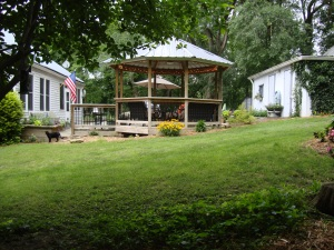 Yard and gazebo